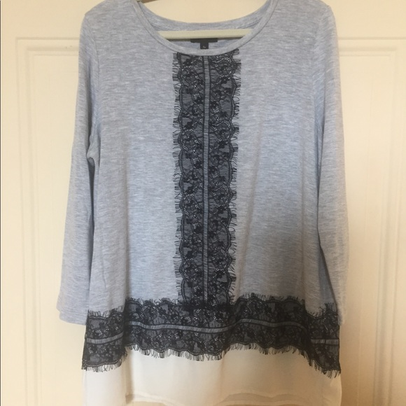 Talbots Tops - Grey T-shirt with lacy